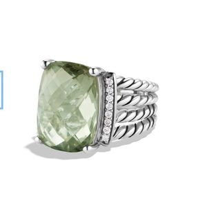 NEW David Yurman Wheaton Ring 16x12 mm-Prasiolite